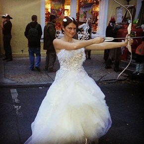 This Katniss Wedding Dress Cosplay is on Fire