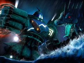 Golurk vs. Feraligatr, Pacific Rim Style