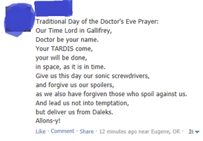 Don't Forget to Say the Doctor's Prayer Before You Go to Bed
