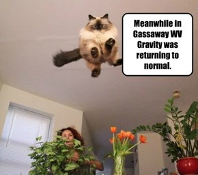 Meanwhile in Gassaway WV Gravity was returning to normal.