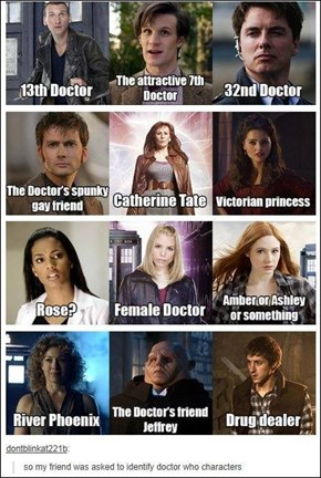 Tumblr's Friend Asked to Identify Doctor Who Characters