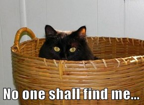 No one shall find me...