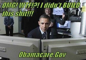 OMG! WTF!?! I didn't BUILD this sh*t!!!              Obamacare.Gov
