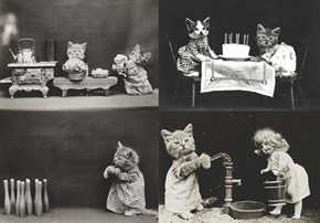 Historic LOLcats in Dollhouse