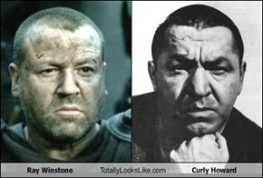 Ray Winstone Totally Looks Like Curly Howard