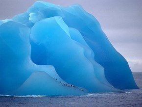 A Blue Iceberg Is an Old Iceberg