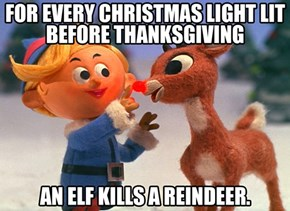 By Hanging Lights Early, You Basically Support Murder