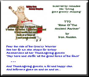 """Ride Of The Groc'ry Warrior"" (TTO ""Rime Of The Ancient Mariner"" by Iron Maiden)"