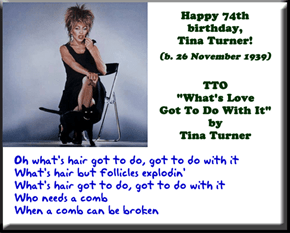 Happy 74th birthday, Tina Turner!