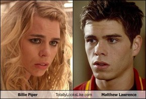 Billie Piper Totally Looks Like Matthew Lawrence