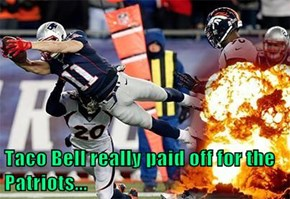 Taco Bell really paid off for the Patriots...