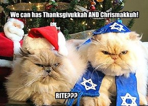 We can has Thanksgivukkah AND Chrismakkuh!