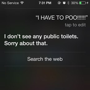 This is a Serious Problem, Siri!