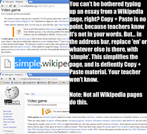 Copying from Wikipedia the right way
