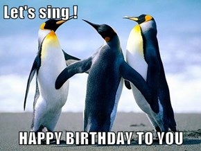 Let's sing !  HAPPY BIRTHDAY TO YOU