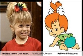 Michelle Tanner Totally Looks Like Pebbles Flintstones