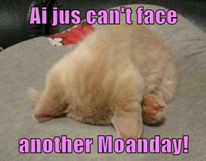 Ai jus can't face  another Moanday!