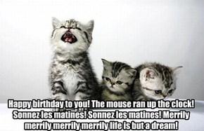 Happy Birthday to Rhoda (lyrics may be improvised)