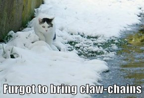 Furgot to bring claw-chains