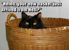 """Helen, your new basket just arrived from Hell?"""