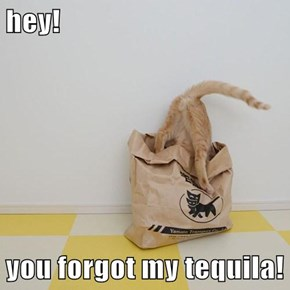 hey!  you forgot my tequila!