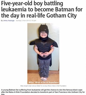 San Francisco Becomes Gotham City for the Batkid