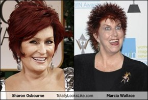 Sharon Osbourne Totally Looks Like Marcia Wallace