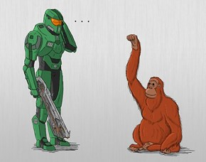 Master Chief vs The Librarian... Kind of