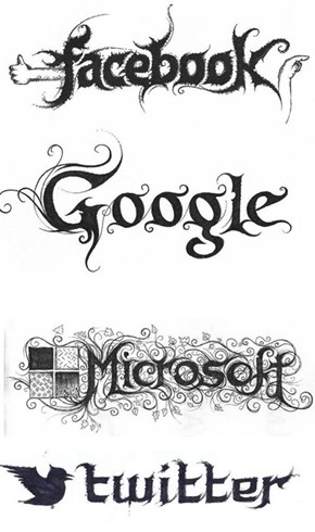 Artsy of the Day: Tech Logos with a Metal Flair