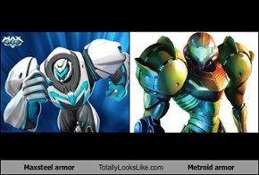 Maxsteel armor Totally Looks Like Metroid armor