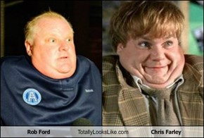 Rob Ford Totally Looks Like Chris Farley
