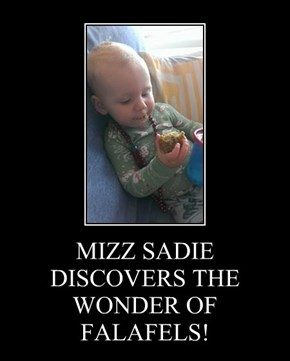 MIZZ SADIE DISCOVERS THE WONDER OF FALAFELS!