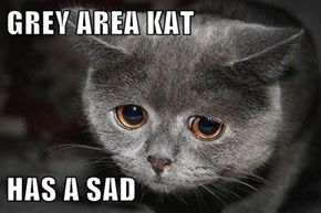 GREY AREA KAT  HAS A SAD