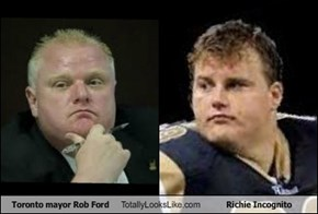 Toronto mayor Rob Ford Totally Looks Like Richie Incognito