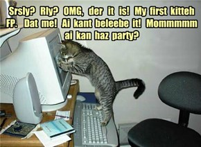 Congrats to jadzia23 on her First Evah LOLCats FP!