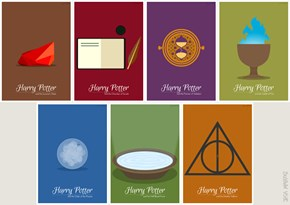 Harry Potter and the Amazing Minimalist Posters