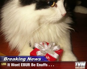 Breaking News - It Wont EBUR Be Enuffs . . .