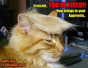 Catmus Play Tryouts - KKPS Skolar Dexter Trump has teh part ob Ebenezer Scrooge nailed..