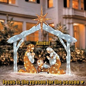 Amen! Jesus is the reason for the season ♥