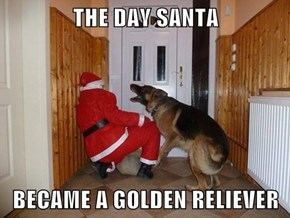 THE DAY SANTA  BECAME A GOLDEN RELIEVER