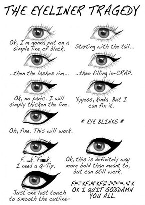The Reality of Putting On Eyeliner