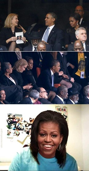Overly Attached Michelle Obama is Not a Fan of the Danish Prime Minister