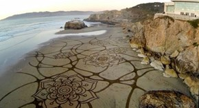 With a Rake and Some Hard Work, Andres Amador Turns the Beach into Something More