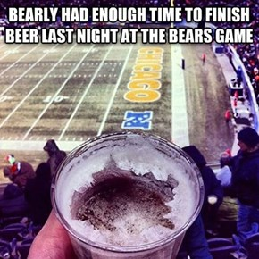 During Winter, Beer at Football Games in Chicago Should Be Cheaper