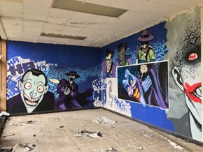 An Abandoned Building Gets a Touch of Arkham With This Graffiti