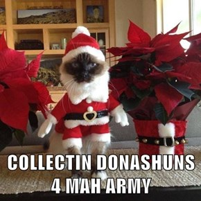 COLLECTIN DONASHUNS 4 MAH ARMY
