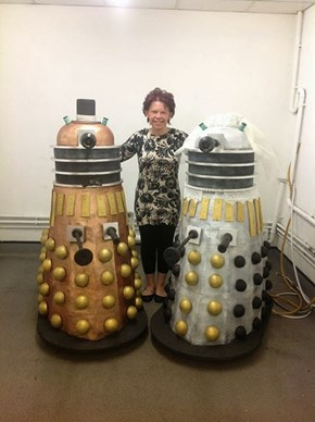 These Life-Size Daleks Are Actually Wedding Cakes. Seriously.