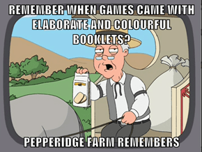 REMEMBER WHEN GAMES CAME WITH ELABORATE AND COLOURFUL BOOKLETS?  PEPPERIDGE FARM REMEMBERS