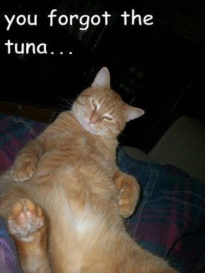you forgot the tuna...