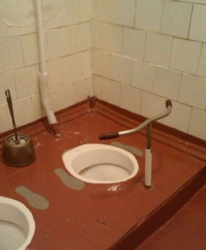 Not Everyone Can Balance Over a Squat Toilet